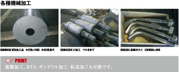 加工品 各種機械加工